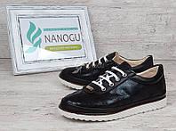 Туфли женские черные на шнуровке Glam на белой подошве, Черный, 36