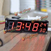 1.2-дюйма LED цифровые часы электронные будильник с температурой