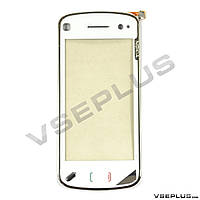 Тачскрин (сенсор) Nokia N97, белый