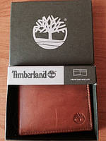Кожаный кошелек Timberland светло коричневый оригинал