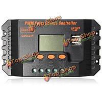 20 30а PWM LCD  Dual USB солнечная панель регулятора батареи контроллер заряда 12 24v