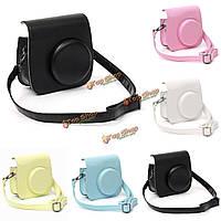 Конфеты красочный PU кожаный чехол сумка аксессуар для поляроидной мини 8 мгновенный камеры