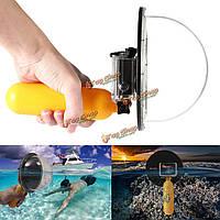 6-дюймов плавание линзы подводного спорта камера купола порт крышка корпуса поплавка ручка для GoPro 3 Plus 3 4