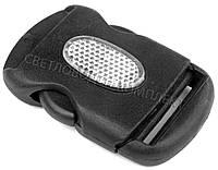 Застёжка фастекс 38 мм пластик, цв. чёрный, арт. ФК-3817