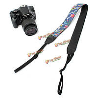 Универсальный нейлоновый пу цветок камеры плеча шеи ремень ремешок для SLR DSLR Nikon CANON SONY