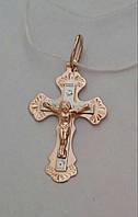 Золотой крест из красного золота