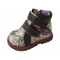 Ботинки для девочки MaiQi  A160 серый (21-26)
