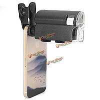 Универсальный 60x-100x зум оптические линзы микроскопа лупы для камеры iPhone Самсунга HTC