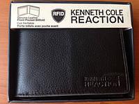 Кожаный кошелек Kenneth Cole Reaction двойного сложения черный оригинал