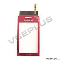 Тачскрин (сенсор) Samsung S5230 La Fleur, красный