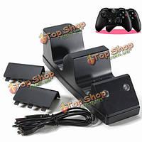 Для Xbox один контроллер двойной зарядки колыбели с 2х аккумулятором