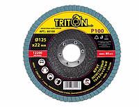 Круг лепестковый тарельчатый Triton-tools P100