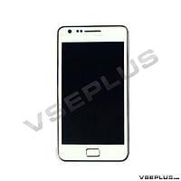 Дисплей (экран) Samsung i9100 Galaxy S2, белый, с сенсорным стеклом