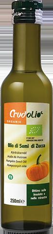 Тыквенное масло (тыквенных семечек) Olio di semi di Zucca CrudOlio Organic, 250 мл.
