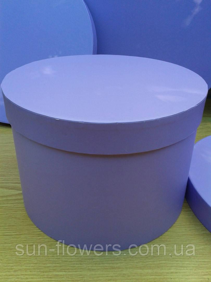 Коробка шляпная лиловая