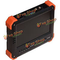 7-дюймов 2в1 TVI тестер камеры видеонаблюдения монитор аналогового 1080p камеры тестирования CVBS VGA HDMI 12V 2A