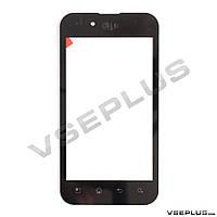 Тачскрин (сенсор) LG P970 Optimus, черный