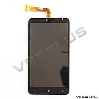 Дисплей (экран) HTC X310e Titan, черный, с сенсорным стеклом