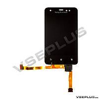 Дисплей (экран) Sony Ericsson ST17i Xperia ACTIVE, черный, с сенсорным стеклом