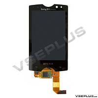 Дисплей (экран) Sony Ericsson SK17i Xperia Mini Pro, черный, с сенсорным стеклом