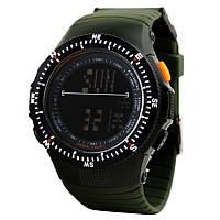 Часы наручные водостойкие 5АТМ спортивные Skmei military 0989 (зеленые).