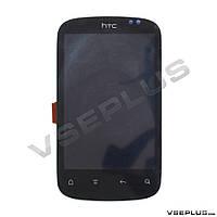 Дисплей (экран) HTC A310e Explorer, черный, с сенсорным стеклом