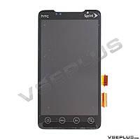 Дисплей (экран) HTC A9292 EVO 4G, черный, с сенсорным стеклом