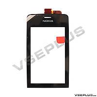 Тачскрин (сенсор) Nokia Asha 308 / Asha 309 / Asha 310, черный