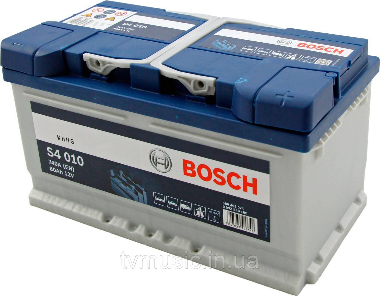 Аккумулятор Bosch S4 010 Silver 80Ah 12V (0092S40100)