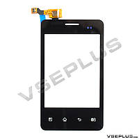 Тачскрин (сенсор) LG E405 Optimus L3 Dual, черный