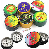 2 Layers Zinc Alloy Tobacco Grinder Herb Crusher