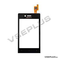 Тачскрин (сенсор) Sony ST23i Xperia Miro, черный