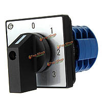 12 терминалов 4 позиции поворотного переключателя камерой переключения