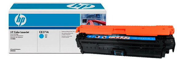 Картридж HP CLJ CP5525, (CE271A/650A), Cyan