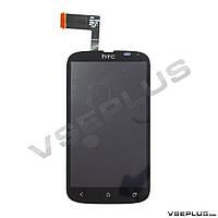 Дисплей (экран) HTC T328w Desire V, черный, с сенсорным стеклом