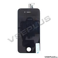 Дисплей (экран) Apple iPhone 4S, черный, с сенсорным стеклом