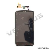 Дисплей (экран) HTC Z710e Sensation G14 / Z715e Sensation XE G18, черный, с сенсорным стеклом