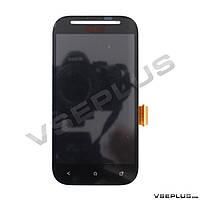 Дисплей (экран) HTC T326e Desire SV, черный, с сенсорным стеклом