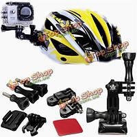 Gp18 регулировка изогнутые клейкой стороной шлем крепление комплект спортивных DV аксессуары для GoPro Hero 1 2 3 3 р