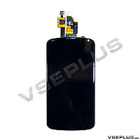 Дисплей (экран) LG E960 Google Nexus 4, черный, с сенсорным стеклом