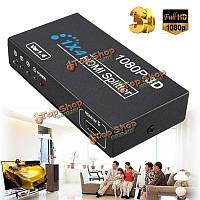 1 в 4 из HD 1080p 3D 1.4 HDMI Splitter адаптер усилитель копировальный выключатель переменного тока