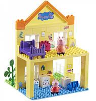 Детский конструктор Peppa Pig Загородный дом Пеппы 2 Фигурки 69 Деталей (06039)