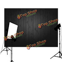 5X3ft 90x150смvinyl угольно-черный деревянный пол фотографии фон фото студия реквизита