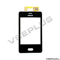 Тачскрин (сенсор) Nokia Asha 501 Dual Sim, черный