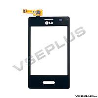 Тачскрин (сенсор) LG E430 Optimus L3 II, черный