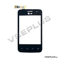 Тачскрин (сенсор) LG E435 Optimus L3 II Dual, черный