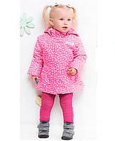 Демисезонная куртка для девочки Baby line р86,92,98,104 принт розовый