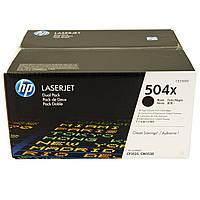 Картридж HP CLJ CM3525, (CE250XD/504X, 2ХCE250X) (MAX), Black