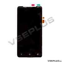 Дисплей (экран) HTC Z321e One J, черный, с сенсорным стеклом