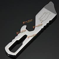 Мульти карманный инструмент на открытом воздухе подглядывать выживания пивной бар нож отвертка брелок для ключей